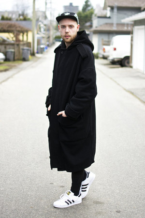 H&M coat - Adidas hat - Adidas sneakers