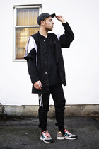 American Apparel hat - vintage shirt - Adidas vest - Adidas pants