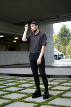 vintage boots - American Apparel hat - Lacoste shirt - Urban Outfitters pants