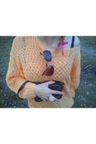 light orange cotton no brand jumper