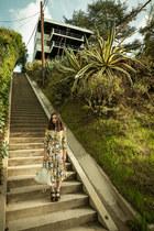floral pattern Benson shirt - floral pattern Benson skirt - Rachel Comey sandals