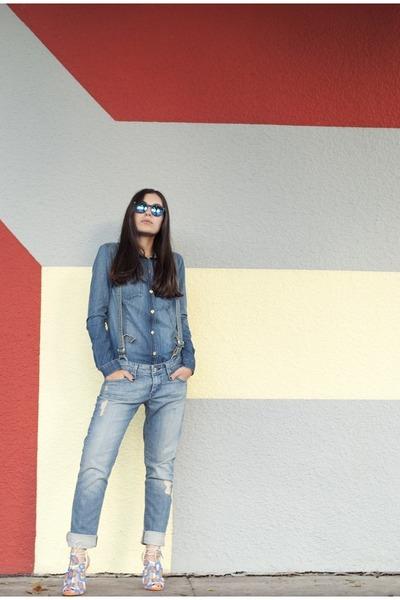 blue James Jeans jeans - blue Juicy Couture shirt - black Spektre sunglasses