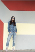 blue James Jeans jeans - blue Juicy Couture shirt - black Spektre sunglasses