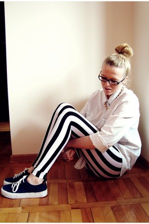striped pants - M&S shoes - SH shirt