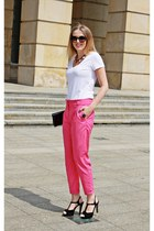 hot pink H&M pants