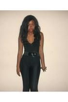 add0d8ea0 velvet Motelcom bodysuit - dancewear unknown leggings. oversized vintage  sweater - black ...
