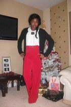 f90dbdbec maxi skirt River Island skirt - stripe VNTAGE shirt - vintage belt. wide  leg Miss Selfridge pants - silence and noise top