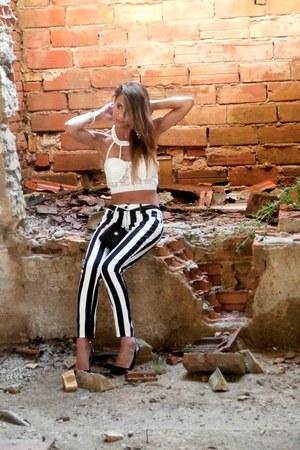romwe top - Love Moschino bag - RISSKIO pants