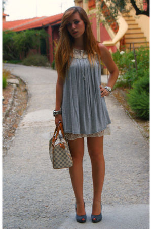 silver Bershka dress