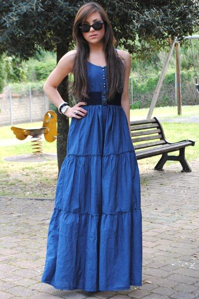 Roper Long Button Denim Dress - Short Sleeve (For Women) - Save 38%