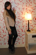 camel alternativa jacket - dark khaki alternativa boots