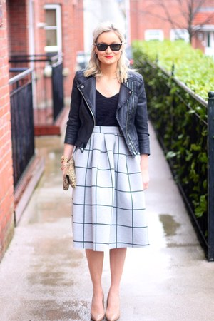 grey midi Topshop skirt