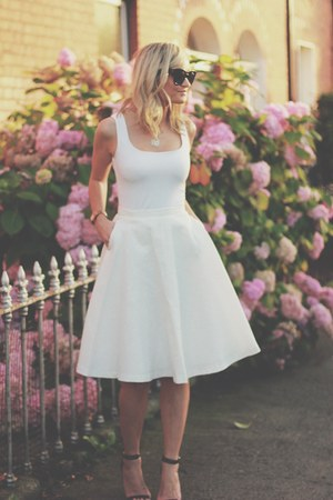 white vest top Top top - Skirt skirt