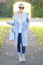 silver grey cotton Coatigan coat - jeans Jeans jeans