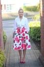 White-zara-shirt-rose-floral-chicwish-skirt
