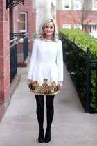 white dress Sheinsidecom dress