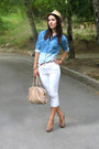 New-yorker-hat-denim-shirt-tally-weijl-shirt-open-toe-zara-pumps