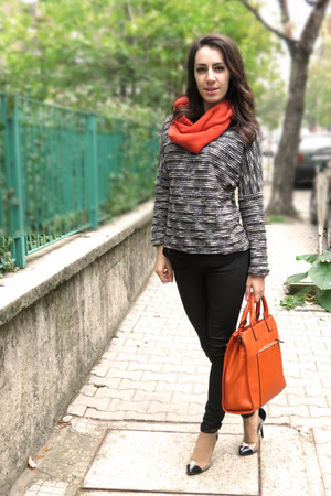 carrot orange cashmere scarf - carrot orange david jones bag