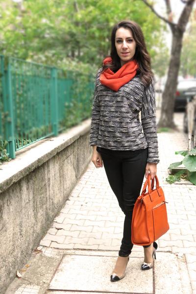 carrot orange cashmere scarf - carrot orange david jones bag