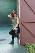 Agaci boots - Michael Kors leggings - Target bag - Ray Ban sunglasses