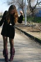 purple Marypaz boots - black i did it dress