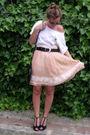 White-no-brand-t-shirt-pink-bdba-skirt-black-vintage-belt-black-primark-ac