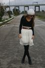 Black-dorothy-perkins-shirt-beige-bdba-skirt-black-new-look-boots-brown-vi