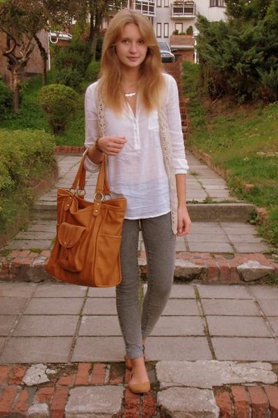 reserved bag - Mango skirt - Bershka vest - H&M pants