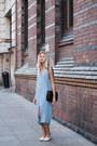 Light-blue-pull-bear-dress-black-zara-bag-white-zara-loafers