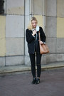 Black-bershka-jeans-black-reserved-jacket-bronze-second-hand-sweater
