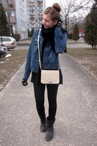 Glitter bag - John Baner jacket - Zara pants