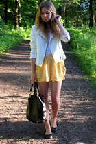 c&a jacket - Manzannan bag - H&M shorts