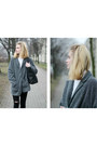 Heather-gray-second-hand-coat-black-zara-bag
