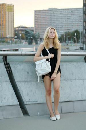 black DressLink jumper - white Zara shoes - white house bag