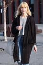 Black-vintage-coat-sky-blue-new-look-jeans-silver-bik-bok-sweater