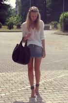 Mango shirt - Orsay skirt - Elilu heels