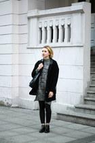 black CCC boots - black Tally Weijl coat - charcoal gray Bershka sweater