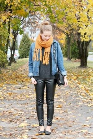 Zara bag - John Baner jacket - second hand sweater - reserved scarf - Zara pants