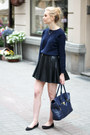 Navy-second-hand-sweater-navy-mizensa-bag-black-c-a-skirt