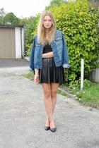 c&a skirt - John Baner jacket - cropp top - Zara heels