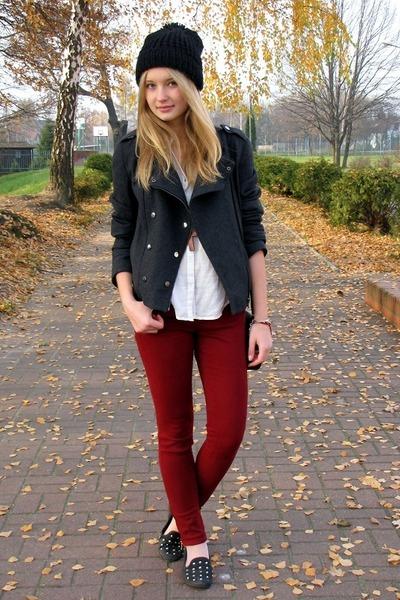 Bershka jacket - H&M shirt - Zara pants