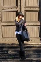 Glitter hat - Bershka jacket - Zara panties - Mango skirt