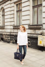 White-h-m-shoes-navy-second-hand-jeans-white-second-hand-sweater