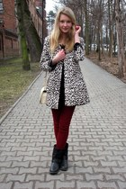 H&M coat - Glitter bag - Zara pants