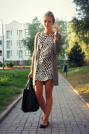 Mango dress - Bershka sweater - Manzana bag