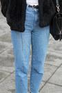 Light-blue-bershka-jeans-black-h-m-jacket-black-zara-bag