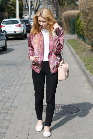pink Mango jacket - white Zara shoes - light pink Mohito bag