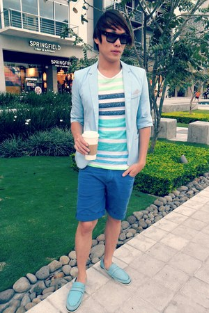 Yesstyle blazer - ETAFASHION shorts - Spy Optics sunglasses - Nautica loafers
