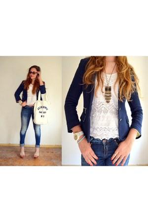 Zara top - Zara jeans - Zara blazer - abercrombie & fitch bag - Ebay sandals