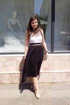 Mango skirt - OASAP necklace - Mango blouse - Zara wedges